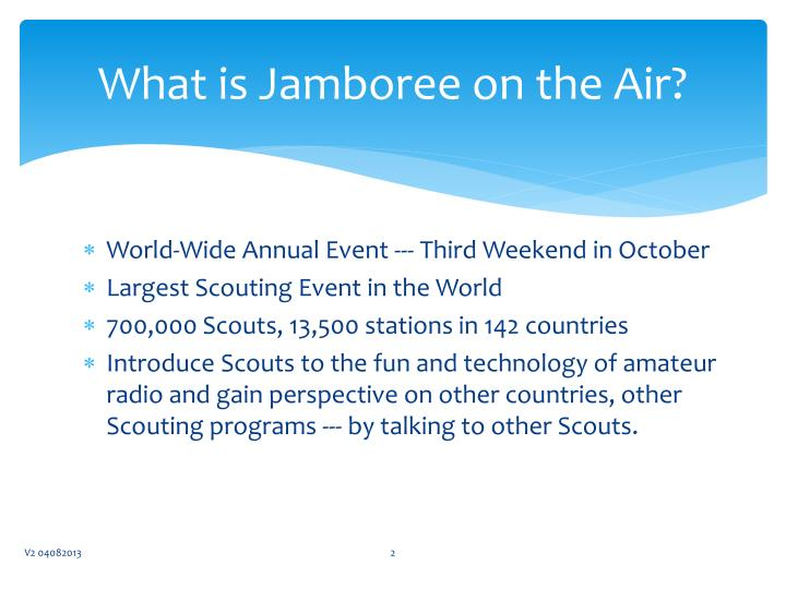 What is jamboree on the air