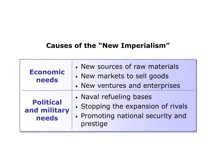 "Causes of the ""New Imperialism"""