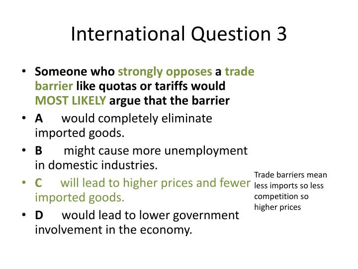 International Question 3