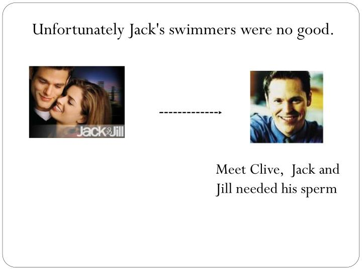 Unfortunately Jack's swimmers were no good.