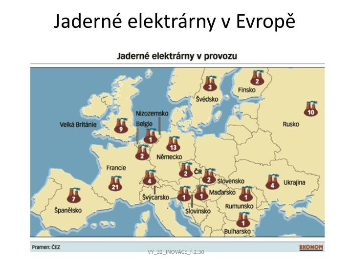 Jaderné elektrárny v Evropě