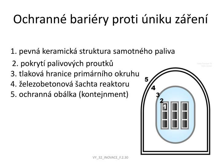 Ochranné bariéry proti úniku záření