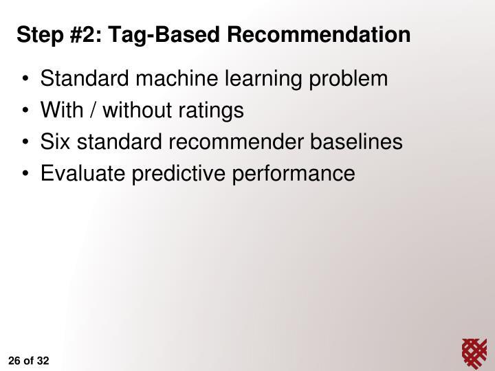 Standard machine learning