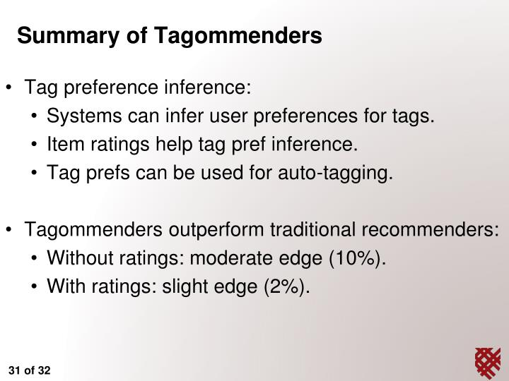 Tag preference inference: