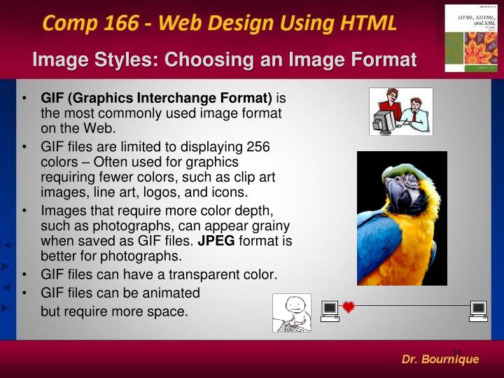 Image Styles: Choosing an Image Format