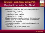 margins styles in the box model
