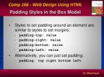 padding styles in the box model
