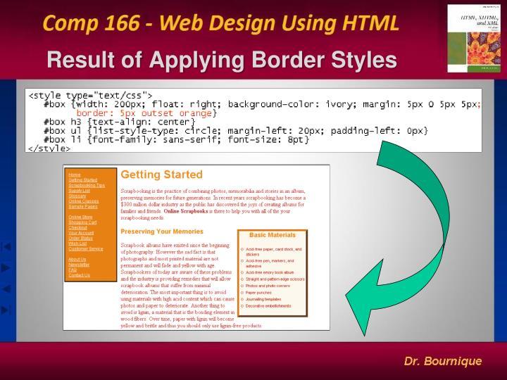 Result of Applying Border Styles
