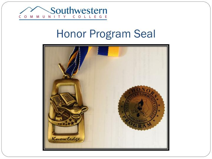 Honor Program Seal