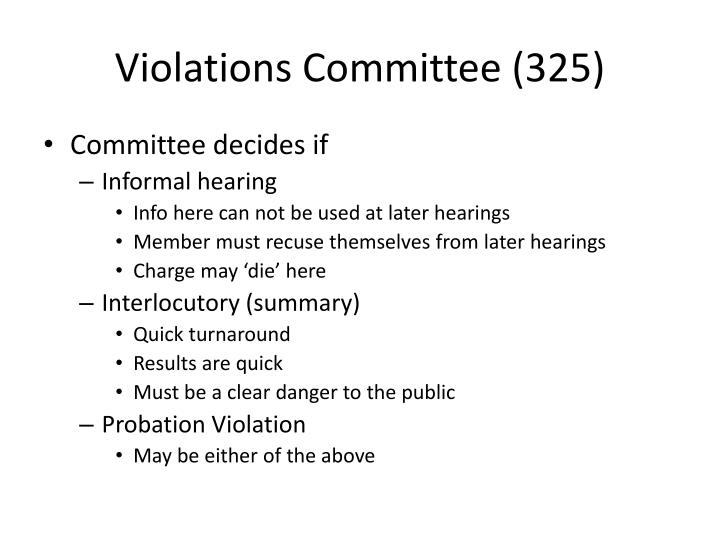 Violations Committee (325)