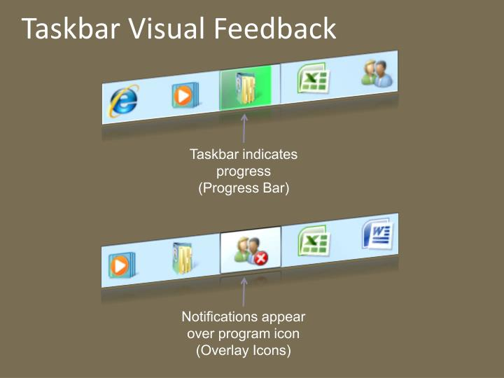Taskbar Visual Feedback