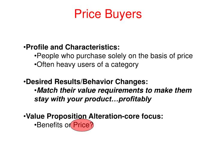 Price Buyers