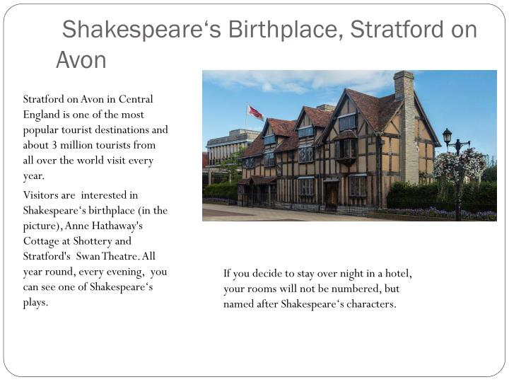 Shakespeare's Birthplace, Stratford on Avon