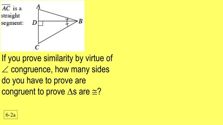 If you prove similarity by virtue of