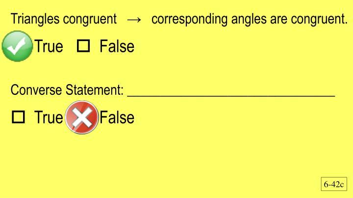 Triangles congruent