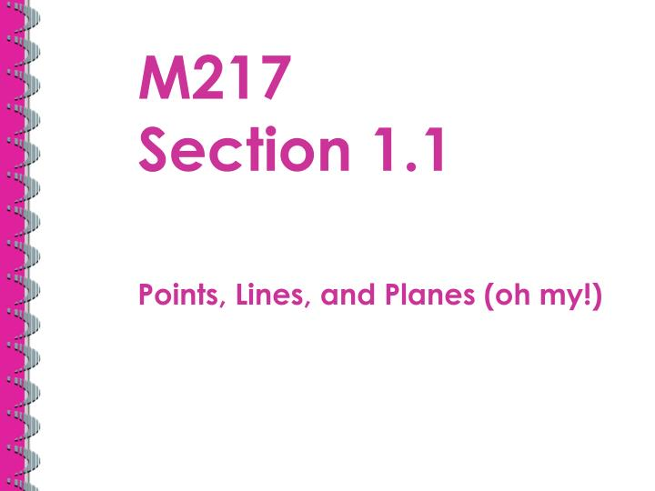 M217 section 1 1
