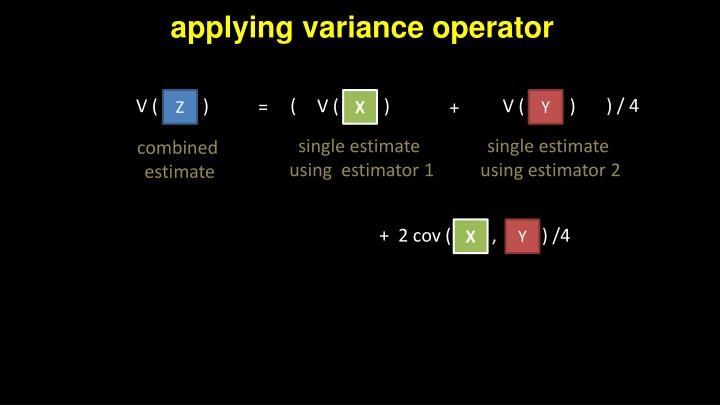 applying variance operator