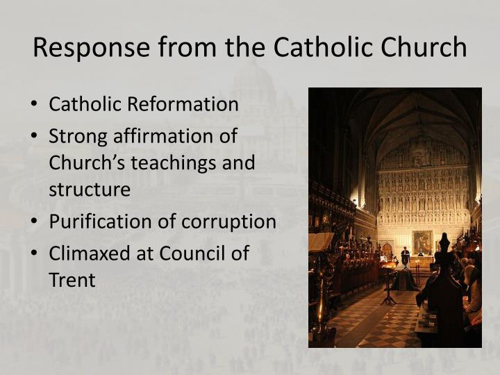 Response from the catholic church