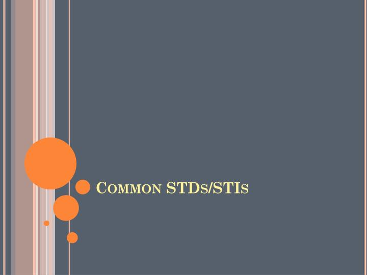 Common STDs/STIs