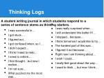 thinking logs