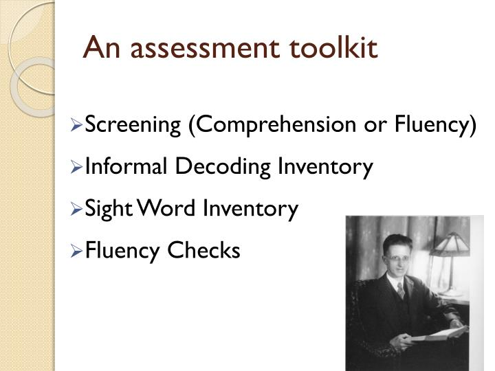 An assessment toolkit
