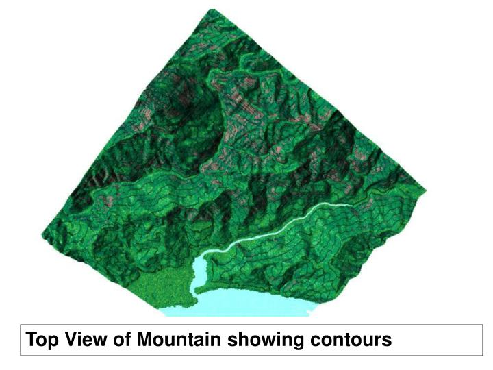 Top View of Mountain showing contours