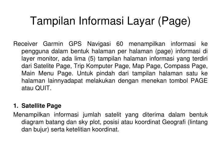Tampilan Informasi Layar (Page)