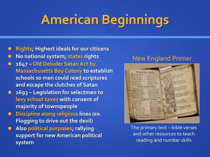 American Beginnings