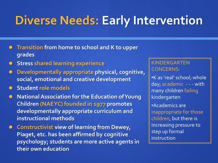 Diverse Needs: