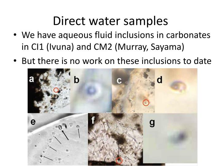 Direct water samples