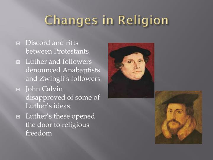 Changes in Religion