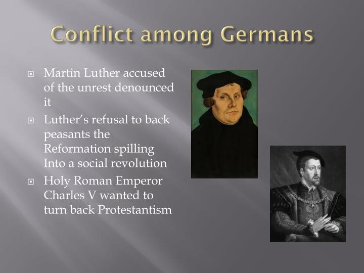 Conflict among Germans