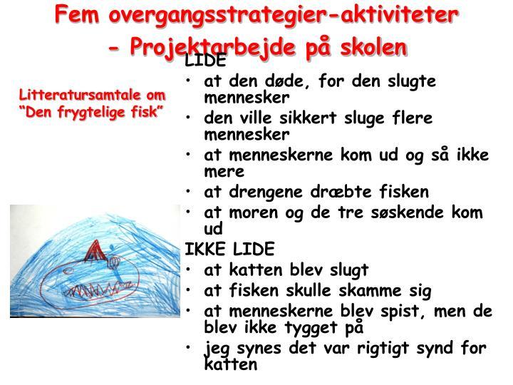 Fem overgangsstrategier-aktiviteter