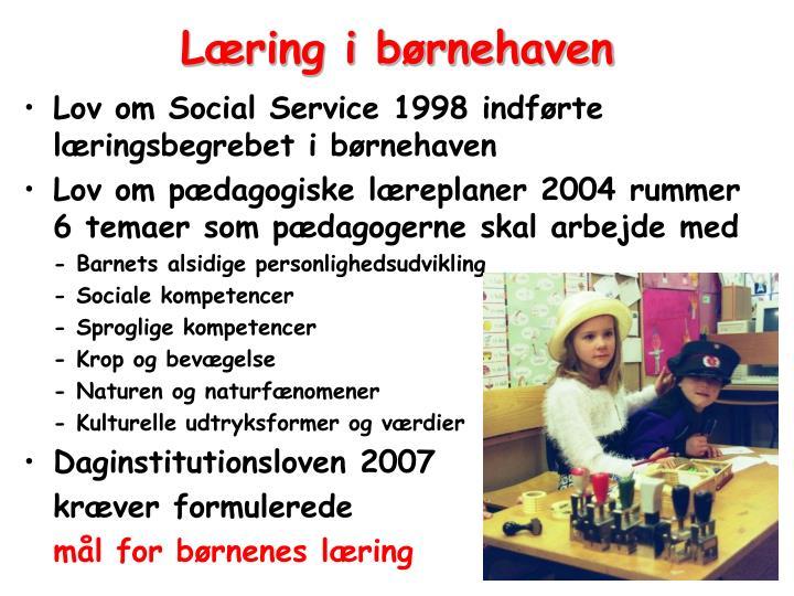 Læring i børnehaven