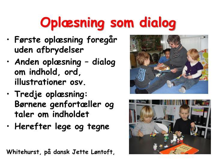 Oplæsning som dialog
