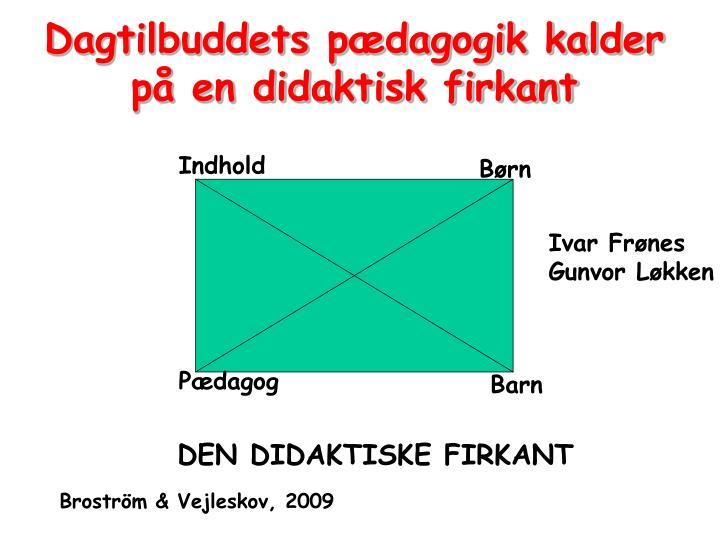 Dagtilbuddets pædagogik kalder på en didaktisk firkant