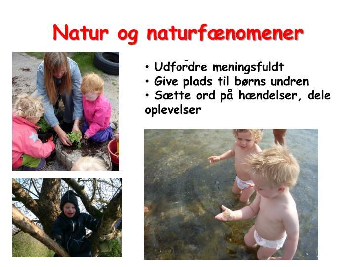 Natur og naturfænomener