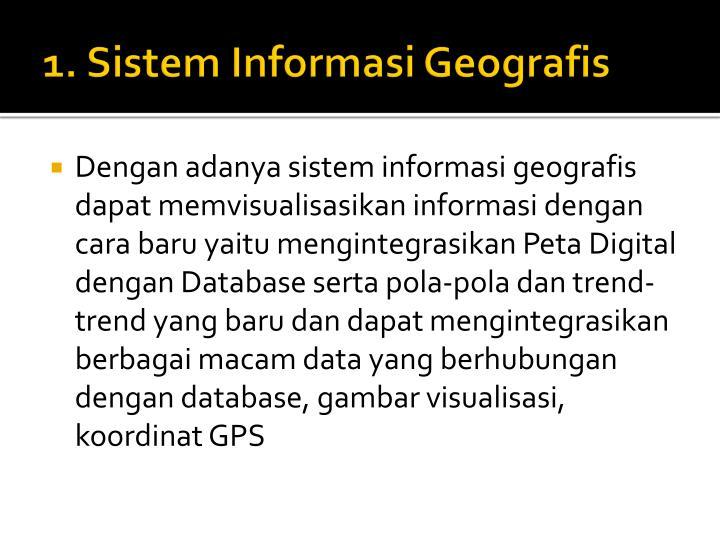 1. Sistem Informasi Geografis