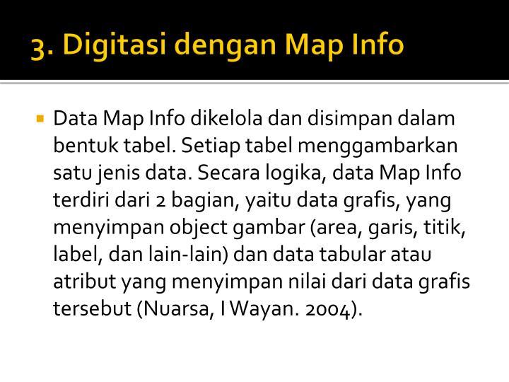 3. Digitasi dengan Map Info