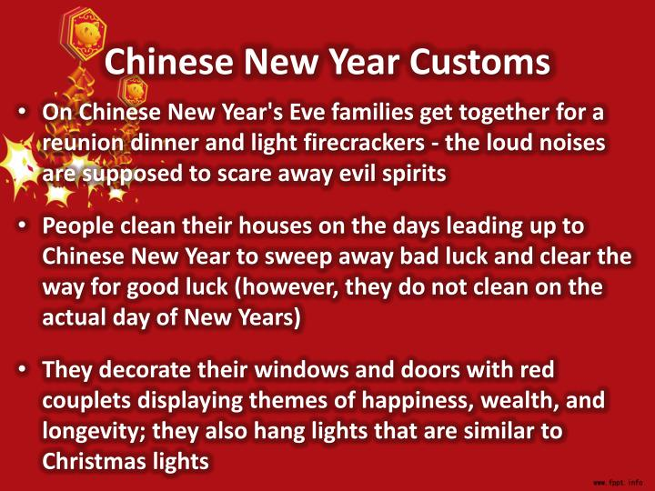 Chinese New Year Customs