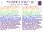 which is the best start to an introduction why