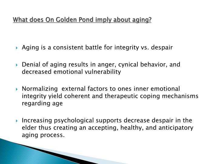 What does On Golden Pond imply about aging?