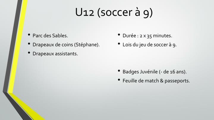 U12 (soccer à 9)