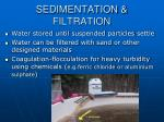 sedimentation filtration