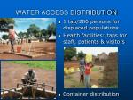 water access distribution