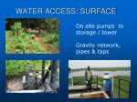 water access surface