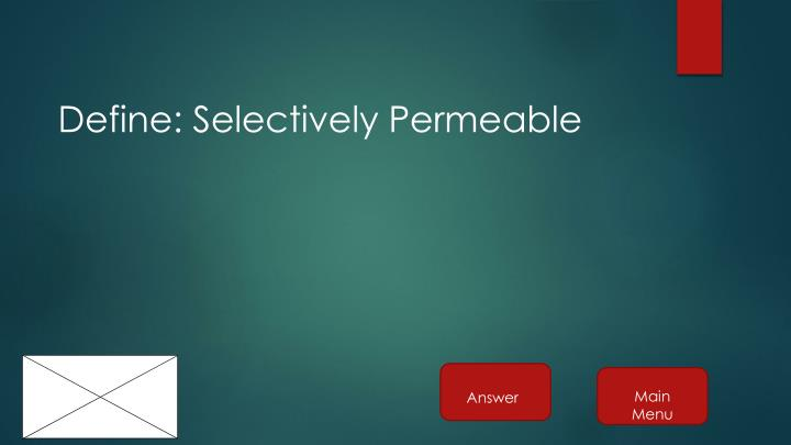 Define: Selectively Permeable