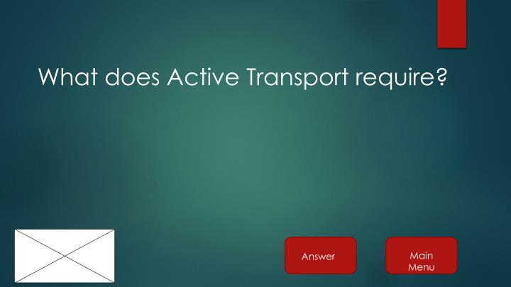 What does Active Transport require?