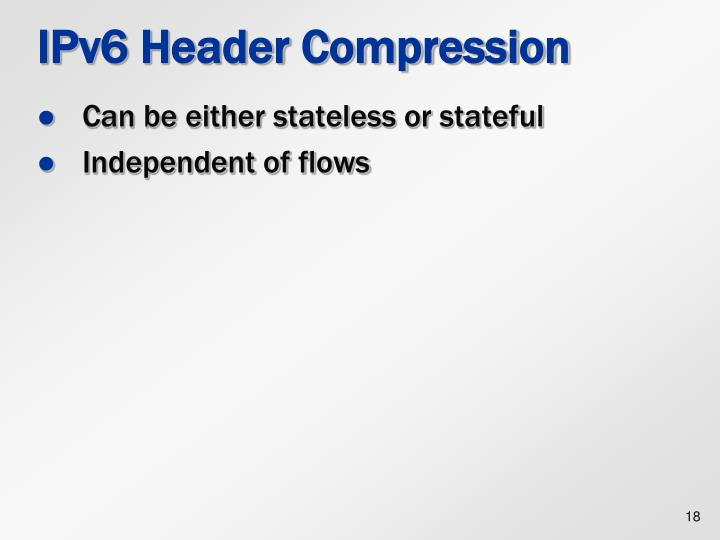 IPv6 Header Compression