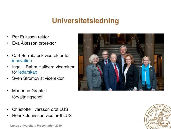 Universitetsledning